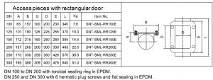 rectangular door